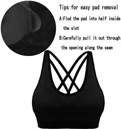 Cabales Women's 3-Pack Seamless Wireless Sports Bra with Removable Pads 4
