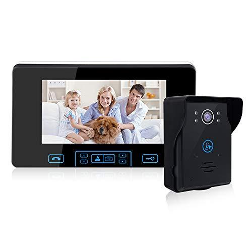24G-Wireless-Video-Door-Phone-Doorbell-Intercom-System-7-inch-Color-Monitor-and-IR-Night-Vision-Camera-Video-Doorbell-Kits-for-Home-SecuritySupport-MonitoringUnlock