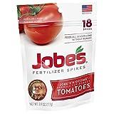 Jobe's Tomato Fertilizer Spikes, 6-18-6 Time Release Fertilizer for All Tomato Plants, 18 Spikes per Resealable Waterproof Pouch