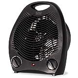 BLACK+DECKER BHD101B 1,500-Watt Personal Desktop Heater, 8.4 Inches x 5.2 Inches x 10 Inches