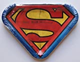 Superman Logo Novelty Shaped Dinner Party Plates - Package of 8