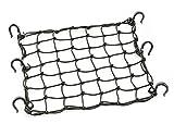 PowerTye 50152 Black 15'X15' Cargo Net featuring 6 Adjustable Hooks & Tight 2'x2' Mesh
