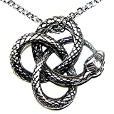 OhDeal4U Celtic Snake Viper Cobra Python Serpent Knot Pagan Pewter Pendant Amulet w Necklace (Stainless Steel Necklace)
