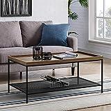 WE Furniture AZF42EMICTDW Coffee Table, 42', Dark Walnut