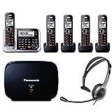 Panasonic KX-TG7875S Link2Cell Bluetooth Phone w/ 5-Handset, Headset & Extender