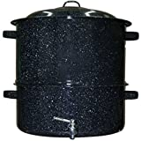 Granite Ware 6316-1 Clam and Lobster Steamer with Faucet Set, 19-Quart, 3-Piece, Black