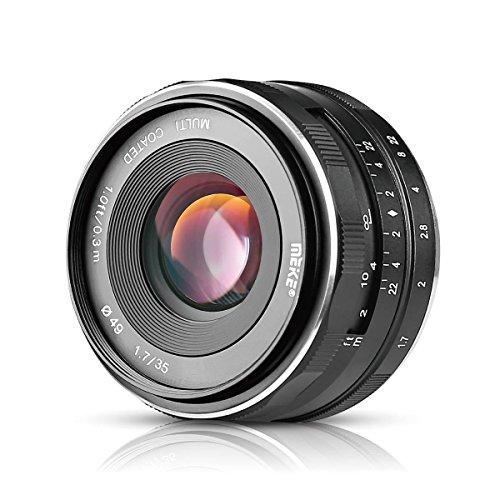 Meike MK-E-35-1.7 35mm F1.7 Large Aperture Manual Prime Fixed Lens APS-C for Sony E-Mount Digital Mirrorless Cameras NEX 3 NEX 3N NEX 5 NEX 5T NEX 5R NEX 6 7 A5000, A5100, A6000, A6100,A6300 A6500