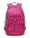 Strawberry and Dots Printed kids Backpack for Girls Children Schoolbag (Rose Red)
