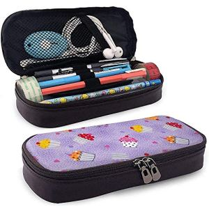 Different Tastes of The Cake Leather Nano Printed Pencil Case Pouch Zippered Cute Pen Pencil Case Box,Big Capacity Stationery Box 51 2B4yySEsSL