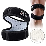Patella Knee Strap for Running,Knee Stabilizing Brace Support for Tendonitis,Osgood schlatter,Arthritis, Meniscus, Tear,Runners,Chondromalacia,Injury Recovery,Sports,12'-17'