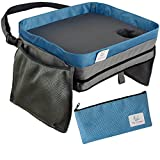 Lap Desk For Kids Travel Tray | Bonus Pencil Case | Toddler Carseat Activities Booster Seat Car Games Airplane Accessories Stroller Organizer Portable Snack Table | Doubles as Carrying Bag or Backpack