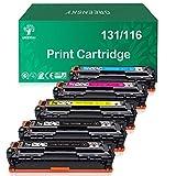 GREENSKY Compatible Toner Cartridge Replacement for HP 131A 131 for Canon 131 131H MF624Cw MF628Cw LBP7110Cw MF8080Cw MF8280Cw LBP7110Cw (Black, Cyan, Yellow, Magenta, 5 Pack)