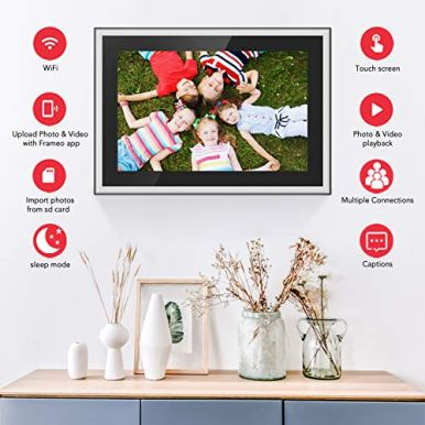 Feelcare-Digital-WiFi-Picture-Frame-10-inch-Send-Photos-or-Videos-from-Anywhere-5GHZ-WiFi16GB-Storage1920x1200-IPS-FHD-DisplayTouchscreen-for-Easy-Navigation