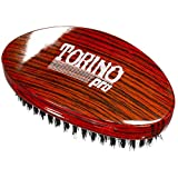 Torino Pro Wave Brush #700 By Brush King - Medium Hard Curve 360 Waves Palm Brush - Made with Reinforced Boar & Nylon Bristles -True Texture Medium Hard 360 Waves Brushes
