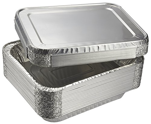 Aluminum-Foil-Pans-20-Piece-Half-Size-Deep-Disposable-Steam-Table-Pans-with-Lids-for-Baking-Roasting-Broiling-Cooking-1275-x-225-x-1025-Inches
