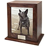 Memorial Gallery Custom Wood Personalized Engraved Pet Urn, Medium