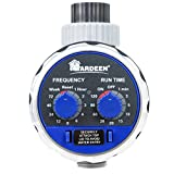 Yardeen Water Timer Electronic Hose Sprinkler Garden Irrigation Controller Two Dial Color Blue