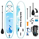 YUEBO Inflatable Stand Up Paddle Board, SUP Paddle Board for Beginner, Allround iSUP Boards Sup Boards with High-Pressure Pump, Coiled Leash, Adjustable Paddle and Easy-Carry Backpack for Trip