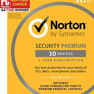 Symantec Norton Security Premium – 10 Devices – 1 Year Subscription [PC/Mac/Mobile Key Card] 3
