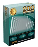 200/Box Clear Heavyweight Poly Sheet Protectors by Gold Seal, 8.5' x 11'