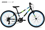 Guardian Bikes Company Ethos Safer Patented SureStop Brake System 24' Kids Bike, Black/Blue/Green