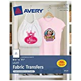 Avery T-Shirt Transfers for Light Fabric, 8.5' x 11', 18 Sheets (8938)