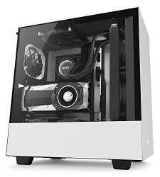 NZXT H500i - Compact ATX Mid-Tower PC Gaming Case - RGB Lighting and Fan Control - CAM Smart Device - Tempered Glass Panel - Enhanced Cable Management System – Wling Ready - White/Blacater-Coo