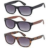 Gamma Ray Bifocal Sunglasses - 3 Pairs Sun Reader Sunglasses 1.25 Reader for Sun