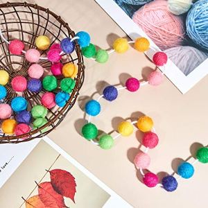 Wool-Felt-Ball-Garland-Colorful-Pom-Pom-Garland-Handmade-65-Feet-Long-24-Balls-Felt-Ball-Garlands-for-Wall-Christmas-Tree-Decoration-2