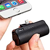 iWALK Portable Charger with Built in Plug, 3300mAh Ultra-Compact Power Bank External Battery Pack Charger Compatible with iPhone 5 6 7 8 Plus X SE XS, iPad, Black