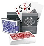 Bullets Playing Cards - Two Decks of Poker Cards - Waterproof Plastic - Easy to Read & Great Feel - Jumbo Index & Two Pips - Professional Playing Cards for Texas Holdem Poker