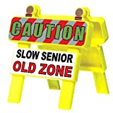 Amscan Mini 'Old Zone' Barricade, Party Favor, 4 1/2' x 4 1/4', Yellow - 210027