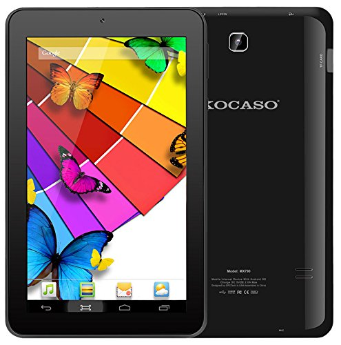 Kocaso MX790 Quad Core Google Android 5.1 Lollipop 7' Tablet PC, 1GB RAM, 8GB Memory, Wi-Fi, Dual Camera, High Resolution HD Screen - Black