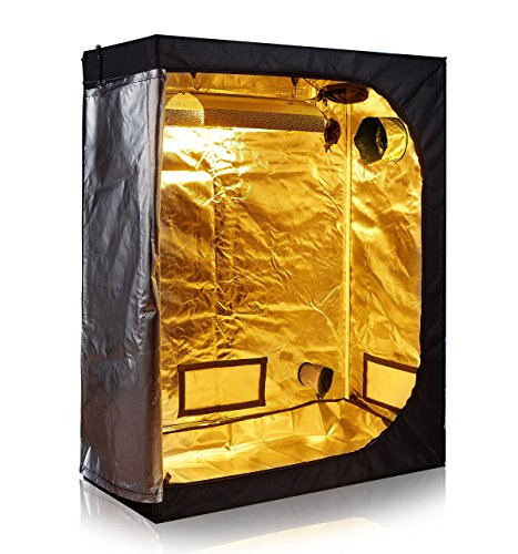 TopoLite 48'x24'x60' 600D Grow Tent Room Reflective Mylar Indoor Garden Growing Room Hydroponic System Dark Room