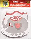 Circus Elephant Classroom Decor Glitter Paper Cut-Outs - 10 Count