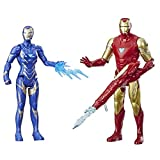 Avengers Marvel Endgame Iron Man and Marvel's Rescue Figure 2-Pack Toy Characters from Marvel Cinematic Universe MCU Movies
