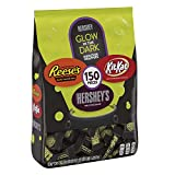 HERSHEY'S Halloween Chocolate Candy, Glow in the Dark Wrapped Assortment, (HERSHEY'S, KIT KAT, and REESE'S) 43.28 oz