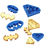 Ecoring Cookie Cutters, Kootips 4Pcs/set Batman Superman Baking Fondant Cookie Cutters Cake Decoration