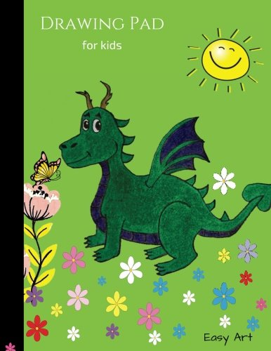 Drawing Pad for kids: Flying Dragon Sketch book, Extra large (8.5 x 11) to Sketch, Draw, Paint, Doodle and Write