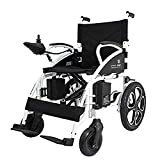 ComfyGO Electric Wheelchair Folding Motorized Power Wheelchairs, Fold Foldable Power Compact Mobility Aid Wheel Chair, Powerful Dual Motor Wheelchair, FDA Approved (Black)