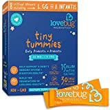 Lovebug Tiny Tummies Probiotics, 30 Packets, Probiotic Support for Children 12 Months to 4...