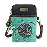 Chala Crossbody Cell Phone Purse-Women Canvas Multicolor Handbag with Adjustable Strap (Turquoise)