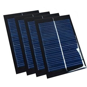 Set of 4 Pieces NUZAMAS 6V 100mA 90X60mm Micro Mini Solar Panel Cells For Solar Power Energy, DIY Home, Science Projects – Toys – Battery Charger