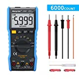 Digital Multimeter,TRMS 6000 Counts Manual and Auto Ranging;Pocket Size Flashlight Measures Voltage Tester,Current,Resistance,Continuity,Frequency;Tests Diodes,Transistors,Temperature