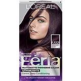 L'Oréal Paris Feria Multi-Faceted Shimmering Permanent Hair Color, M32 Midnight Star (Violet Soft Black), 1 kit Hair Dye