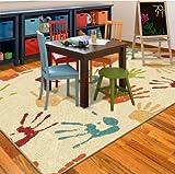 Orian Handprints Kids' Area Fun Rug