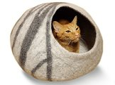 MEOWFIA-Premium-Cat-Bed-Cave-Large-Eco-Friendly-100-Merino-Wool-Beds-for-Cats-and-Kittens