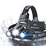 DanForce Headlamp, LED 2019 Version, Rechargeable Headlamp CREE 1080 Lumens Brightest Zoomable Head lamp Flashlight. Headlight USB Rechargeable, IPX45 HeadLamps. Best for Camping, Outdoors, Adults.