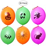 Halloween Party Favors Punch Balloons for Kids Halloween Party Games with 6 Patterns - 30 Pcs