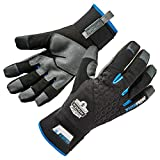 Ergodyne ProFlex 817WP Reinforced Thermal Waterproof Insulated Work Gloves, Touchscreen Capable, Black, Large